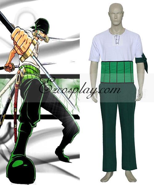 Costumi Fashion Ezcosplay One Piece Roronoa Zoro cosplay costume