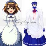 Haruhi Suzumiya Haruhi Suzumiya costume della domestica di Cosplay Dress