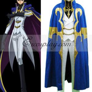 Costumi moda Ezcosplay Code Geass Suzaku Kururugi Cavaliere Costume Suit Cosplay