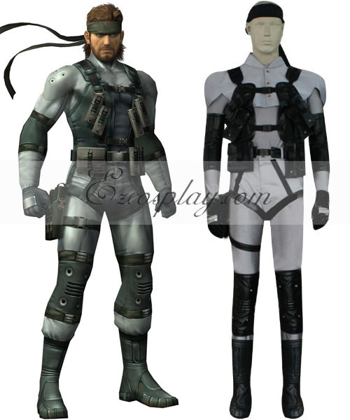 Costumi moda Ezcosplay Metal Gear Solid 2 Costume Solid Snake Cosplay