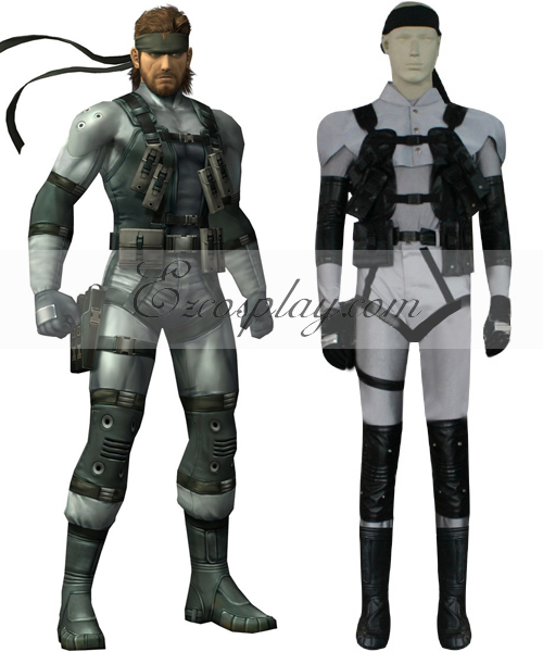 Costumi moda Ezcosplay Metal Gear Solid 2 Costume Solid Snake Cosplay