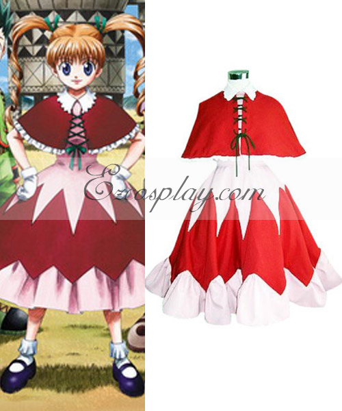 Costumi moda Ezcosplay costume cosplay Hunter X Hunter Bisuke Red Dress