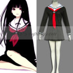 Hell Girl Enma Ai nero costume cosplay Uniform