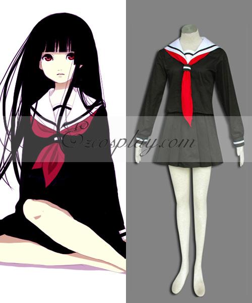 Costumi moda Ezcosplay Hell Girl Enma Ai nero costume cosplay Uniform