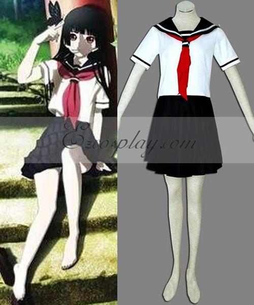 Costumi moda Ezcosplay Hell Girl Enma Ai White costume cosplay Uniform