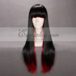 Giappone Harajuku Series Black & Red Cosplay Wig-RL005