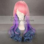 Giappone Harajuku Serie Rosa & Viola & Blue Cosplay Wig-RL003