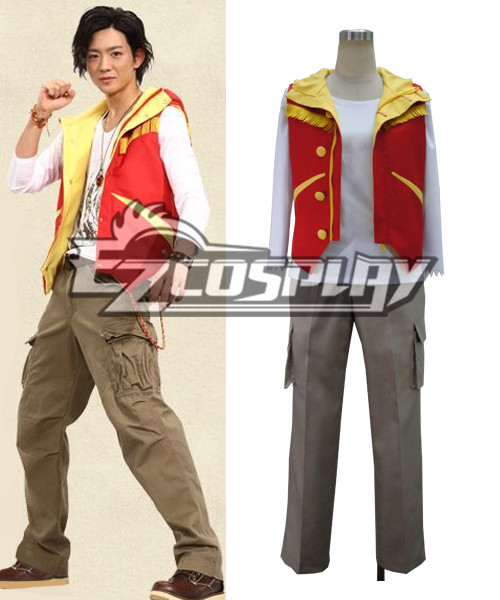 Costumi moda Ezcosplay costume cosplay Kyoryuger KING (Vest solo)