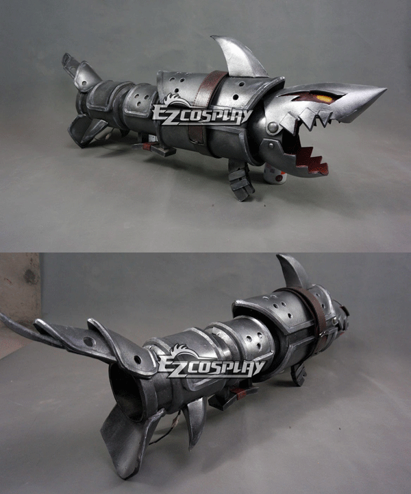 Costumi Moda Ezcosplay League of Legends LOL Jinx Fishbone Rocket Launcher Arma Prop