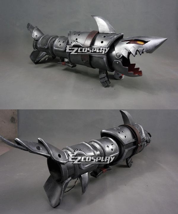 Costumi Moda Ezcosplay League of Legends LOL Jinx Fishbone Rocket Launcher Arma Prop