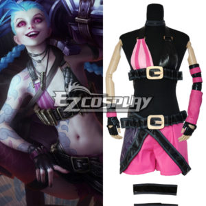Costumi Moda Ezcosplay League Of Legends LOL JINX il costume cosplay Loose Cannon