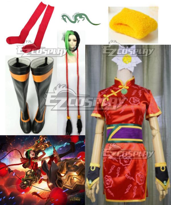 Costumi Fashion Ezcosplay League of Legends costume cosplay JINX