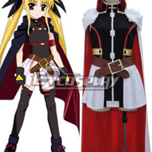 Costumi Moda Ezcosplay ViVid destino Testarossa costume cosplay Harlaown Magical Girl Lyrical Nanoha