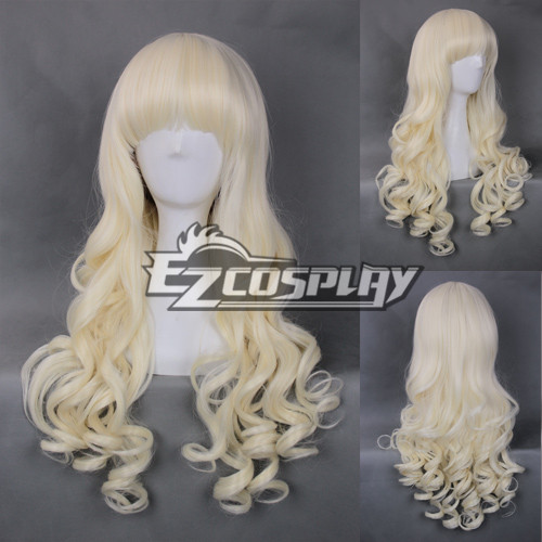 Costumi moda Ezcosplay Cosplay Giappone Harajuku Serie bianco panna parrucca riccia-RL043