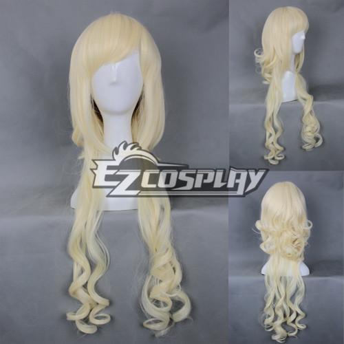 Costumi moda Ezcosplay Cosplay Giappone Harajuku Serie debole giallo parrucca riccia-RL044C