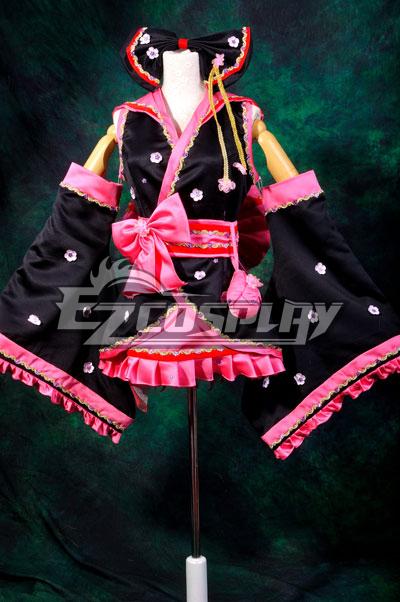 Costumi moda Ezcosplay Righello Vocaloid Miku Sakura Kimono costume cosplay Lolita
