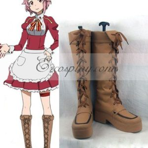 Costumi moda Ezcosplay Sword Art Online Lisbeth (Rika Shinozak) Boots Cosplay