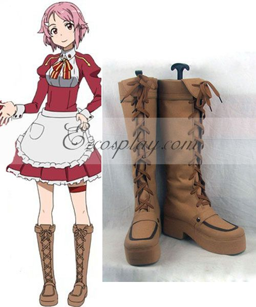 Costumi moda Ezcosplay Sword Art Online Lisbeth (Rika Shinozak) Boots Cosplay