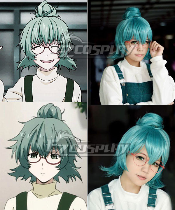 Costumi moda Ezcosplay Cosplay Anime Tokyo Ghoul Eto Sen Takatsuki Verde Capelli