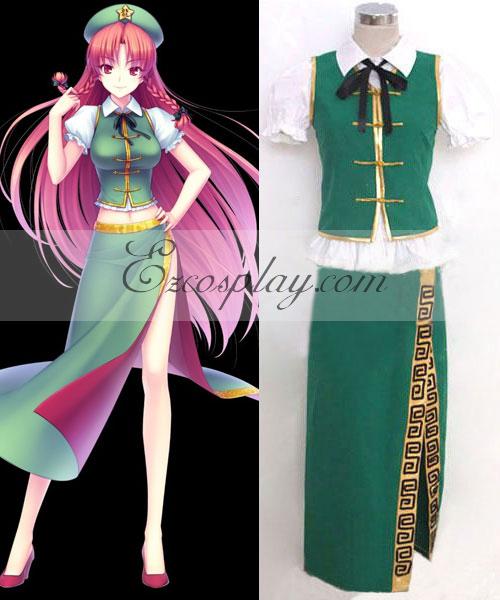 Costumi Fashion Ezcosplay Touhou Progetto Hong Meiling costume cosplay