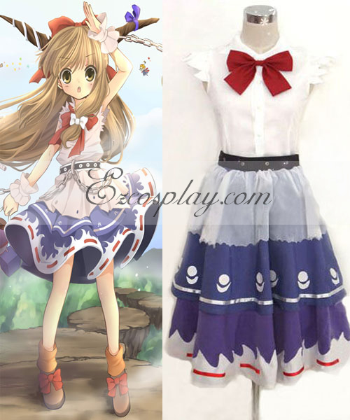 Costumi Fashion Ezcosplay Touhou progetto Ibuki Suika costume cosplay