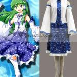 Touhou progetto Sanae Kochiya costume cosplay