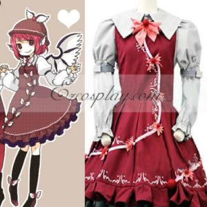 Costumi Moda Ezcosplay Touhou progetto Mystia Lorelei costume cosplay (compreso il cappello)