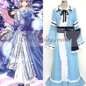 Costumi Fashion Ezcosplay Touhou progetto Saigyouji Yuyuko costume cosplay