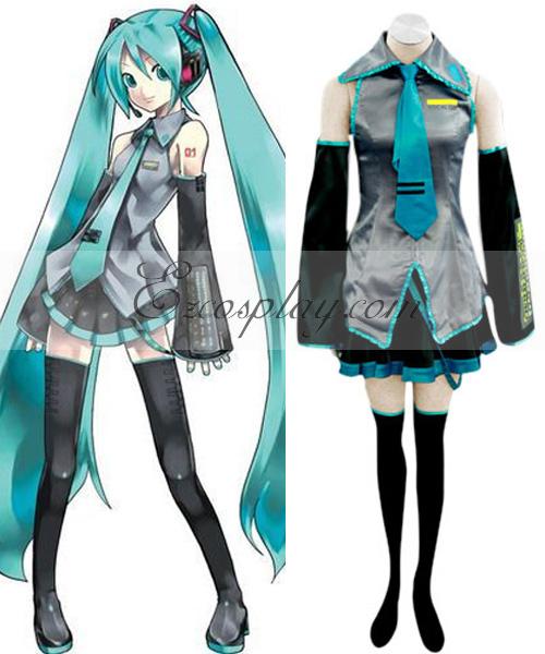 Costumi moda Ezcosplay Vocaloid Hatsune Miku Cosplay-taglia M