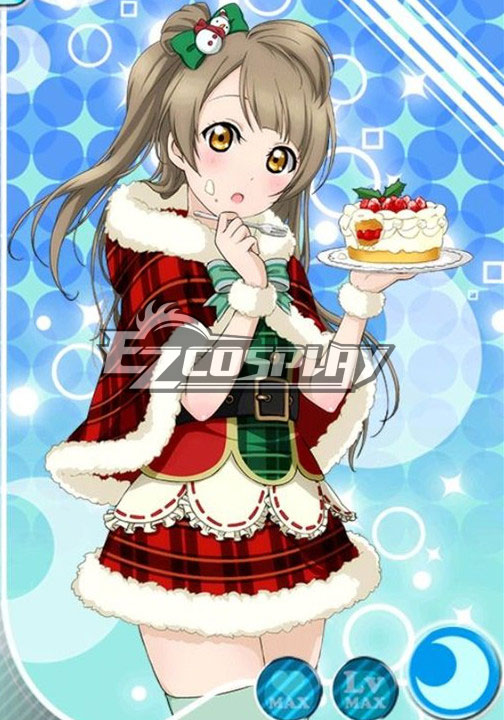Costumes Fashion Ezcosplay Ama vivi! UR Minami Kotori costume cosplay di Natale