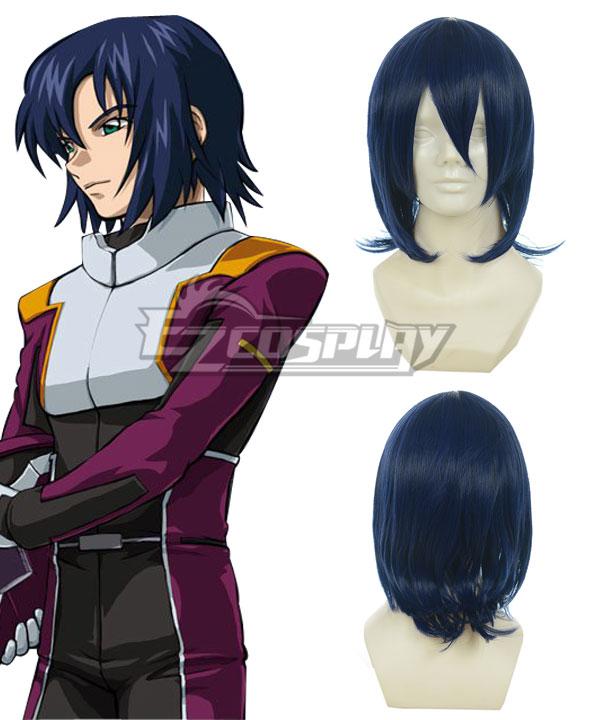 Costumi moda Ezcosplay Gundam Seed Athrun Zala blu scuro Cosplay-010A