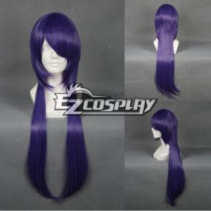 Costumi moda Ezcosplay Cosplay Hakuouki Saito Hajime Viola Parrucca-030A