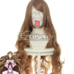 Code Geass Nunnally Lamperouge Giallo Marrone Cosplay onda parrucca 037G
