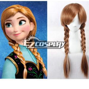 Costumi moda Ezcosplay Cosplay congelata Anna Disney Brown Wig-336A