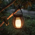 LED Waterproof Solar Powered Candle Lantern Street Lamp Rattan Light for Garden Yard Outdoor Decoration